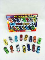çocuk modelleri ücretsiz toptan satış-Arabalar Model Oyuncaklar Metal Kabuk Simülasyon Modeli Yarış çocuk Oyuncak Hediye Koleksiyonu 20 adet / kutu Ambalaj DHL Üzerinden Ücretsiz Gemi