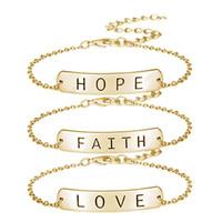 faith hope love jewelry großhandel-1 STÜCKE Glauben Liebe Hoffnung Charme Einstellbare Draht Gewickelt Armreif Schmuck Geschenk Für Liebhaber