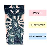 Wholesale black purple tattoo resale online - Ice Sleeve Sunscreen Sun Protection Sleeve Summer Slim Boy And Girl Ice Silk Arm Guard Tattoo For Children