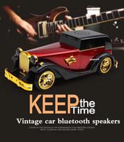 modelos de tarjetas naves al por mayor-MODELO DE COCHE Vintage ALTAVOZ PORTÁTIL BLUETOOTH RADIO FM TARJETA USB TF 3.5MM LINE-IN SOPORTE DHL TNT ENVÍO GRATIS