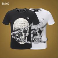 t-shirts vêtements de mode achat en gros de-Broderie Applique Angry Cat T-shirt Hommes Coton Stretch Slim Fit Style Tee Wear Haut Mode Homme T-shirts couleur unie M-3XL JG4096