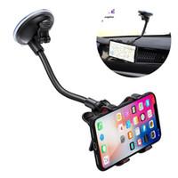 ingrosso supporto portacampione regolabile-Supporto del telefono dell'automobile supporto del telefono regolabile di 360 gradi supporto per auto tazza di aspirazione GPS per iPhone 8 X XS MAX Samsung S10 S9 S8