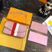sac à bandoulière en fourrure rouge achat en gros de-Nouveau célèbre marque femmes messenger sacs petite chaîne crossbody sacs femme luxe sac à bandoulière perle sac à main 2018 Rouge Blanc noir GG6955