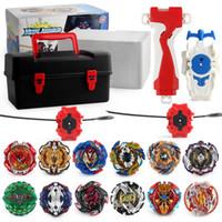 beyblade oyuncakları toptan satış-12 adet / kutu Beyblade patlama Beyblades Metal Fusion Arena 4D bey blade Launcher Topaç Beyblade Oyuncaklar Erkek Çocuklar Için