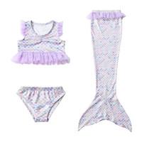 розничный купальник оптовых-Русалка для девочек детские купальники для девочек купальники для бикини детская дизайнерская одежда для девочек купальные костюмы дизайнерские купальники Детские купальные костюмы розница A7092