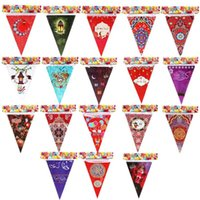 Wholesale bunting decor for sale - Group buy 2020 Eid Mubarak Triangle Bunting Banner Muslim Festival Celebration Party Moon Star Banner For Birthday Party Decor