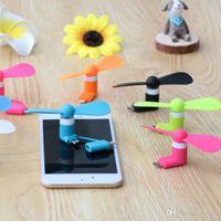 micro gadget al por mayor-Mini Cool Micro USB Fan Teléfono móvil USB Gadget Fans Tester Para type-c Samsung s7 edge s8 plus con paquete
