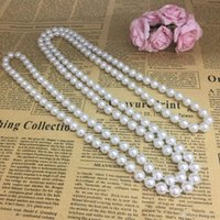 Wholesale baby girls necklace pearl for sale - Group buy Fashion Pearl Beads Kid m long Necklace Newest Solid Color Pearl Necklace Jewelry For Baby Kid Girl