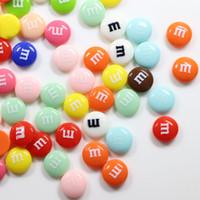 мм шоколад оптовых-MM CHOCOLATE Beans Смешанные смолы, шоколадные конфеты, плоская задняя часть, кабошоны, смола каваи, кабошоны, слизь, поддельные конфеты