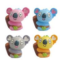 koala bebekleri toptan satış-Yeni 4 renk squishy oyuncaklar 11cm renk baskı oyuncaklar sıkma koala Bebeklerin squishies ağaç ayı yetişkin dekompresyon oyuncaklar çocuklar