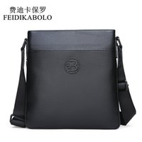 Wholesale black man bag resale online - FEIDIKABOLO Genuine Leather Messenger Bags Men Shoulder bag Small male man Crossbody bags for Messenger men Leather Handbag