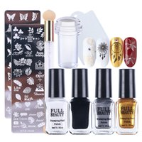 Wholesale printing nail art for sale - Group buy Nail Stamping Gel Polish Plates Set Template Jelly Stamper Scraper Manicure Art Tool Kit Flowers Geometry Printing Lacquer TR797