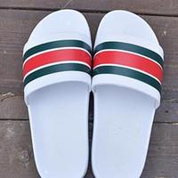 Wholesale Slippers - NEW Designer slipper Gear bottoms mens striped sandals causal Non-slip summer huaraches slide flip flops slipper