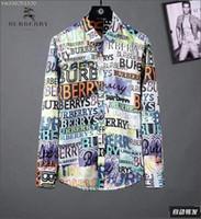 amerikanisches lässiges langes kleid großhandel-Amerikanisches Geschäftsmarken-Selbstanbauplaidhemd, Modedesignermarken-langärmliges Baumwoll-beiläufiges Hemd gestreiftes Mitkleidhemd BB1101
