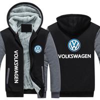 araba hoodies toptan satış-Yeni kış hoody volkswagen araba logosu baskı Erkek kadın Sıcak Filo Hoodies sonbahar elbise tişörtü Fermuar ceket polar hoodie streetwear