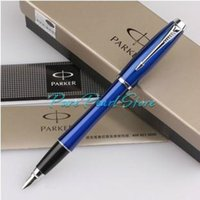 Wholesale silver parker pens for sale - Group buy PARKER High Quality Office School Stationery URBAN Series Blue Color Smooth Surface and Clip of Silver Fountain Pen