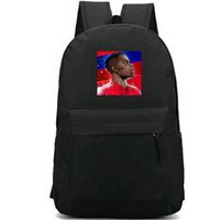 Wholesale paul pogba resale online - Paul Pogba backpack Cool football star daypack Soccer print photo schoolbag Durable rucksack Casual school bag Outdoor day pack