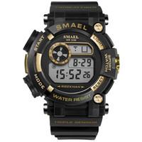 большие светодиодные часы оптовых-BRW светодиодные наручные часы цифровой роскошные мужские часы водонепроницаемый Спорт мужские часы 1638 большой циферблат будильник цифровые часы relogio