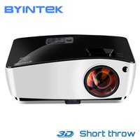 Wholesale daylight projector hdmi resale online - BYINTEK Cloud K5 DLP Short Throw D Video HD Projector For Daylight Education Hologram Business Full HD P Movie Home Theater