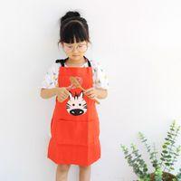el yapımı hayvan pamuğu toptan satış-Çocuk önlük karikatür sevimli anaokulu önlük pişirme el yapımı sınıf anti-kirlenme pamuk hayvan tulum