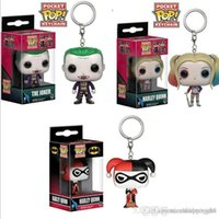 Wholesale female toy for sale - Group buy Funko Pocket Pop suicide squad Haley Quill Small ugly female hanger key button a