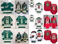 Wholesale high hockey resale online - Man s Cheap Minnesota Wild Jerseys Zach Parise Jersey Kevin Fiala Jonas Brodin Joel Eriksson Ek Stitched High Quality Hockey Jersey