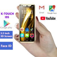 mini gps mobile оптовых-Карманный мини смартфон андроид K-сенсорный I9S MTK6580 16ГБ вспомогательное оборудование GPS с WiFi лицу идентификатор поддержка Google играть в супер маленьких мобильных телефонов ПК хз 7С