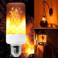 luzes led fogo venda por atacado-E27 LED Flicker Flame Light Bulb Simulado Queimar Efeito de Fogo Festival de Decoração Para Casa