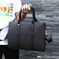 Wholesale luxury briefcases for sale - Group buy New Classic Men Handbag Designer Fashion Luxury Design Leather Making High end Atmospheric Briefcase Single Shoulder Bag number