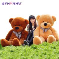 yarı mamul oyuncaklar toptan satış-140 cm Için 200 cm Ucuz Dev Unstuffed Boş Teddy Bear Bearskin Coat Yumuşak Büyük Cilt Kabuk Yarı mamul Peluş Oyuncaklar Yumuşak Çocuk Bebek J190717