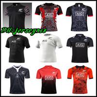 jersey de fútbol para hombre xxl al por mayor-2019 20 New Zealand All Blacks Rugby Jersey camiseta 17 18 19 Temporada, All Blacks Mens Rugby Football Jersey 2018 Tamaño S-XXXL
