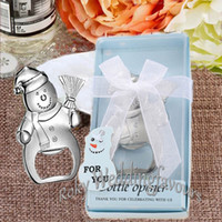 ingrosso idee regali di natale-20PCS Snowman Bottle Opener Christmas Party Gifts Event Favors Baptism Souvenior Birthday Keepsakes Wedding Favors Halloween Ideas