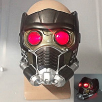Wholesale cosplay cos for sale - Group buy Cos Guardians of the Galaxy Helmet Cosplay Peter Quill Helmet Latex with Led Light Star Lord Helmet Halloween Party Mask Adults