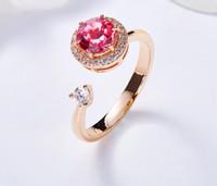 bague solitaire diamant rouge
