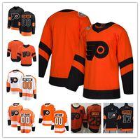 sevkıyat hokeyi formaları bırak toptan satış-Özel Philadelphia Flyers 2019 Stadyum Serisi Erkek Kadın Gençlik Çocuk Forması Herhangi Bir Numara Adı 9 Ivan Provorov Hartman Gritty Giroux Voracek