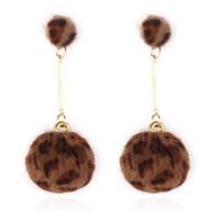 leopar topları toptan satış-Tasarımcı takı leopar baskı küpe topları kolye dangle küpe nakliye ücretsiz kadınlar için stil serseri