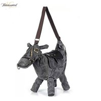 Wholesale donkey bags resale online - Women Messenger Bags Travel Bag Pack Mochila Bolsos Mujer Hot Bag Creative D Pony Donkey Horse Shape Female Shoulder Bag
