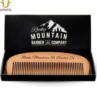 MOQ 50 PCS Amazon's Choice Hair Comb Brush - Wood with Anti-Static & No Snag Handmade Brushes for Beard Mustache