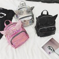 Wholesale women mini bag animal for sale - Women Sequins ange wing Backpack Cute mini cartoon Shoulder Bag Glitter laser Children Girls Sequined Travel School Outdoor Knapsack AAA1685