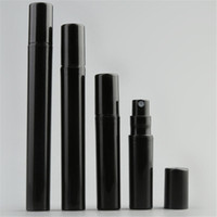 ingrosso atomizzatori di profumo di plastica 5ml-Vuoto 2ML 3ML 5ML 10ML Mini plastica nera dello spruzzo bottiglia di profumo Piccolo Promozione campione del profumo atomizzatore
