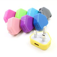 apfel ladegerät farbe großhandel-Hot Smart 1A Handy Universal Farbe britischen Standard UK Ladegerät Dreieck Stecker für: iphone8 plus X Samsung S8 + S9 +