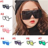 gafas de sol para niños niñas al por mayor-Nuevo marco de las gafas de sol de los bebés Niños Plaza Sun Gafas de diseño de verano para niños pequeños Niños Diseñador vidrios de Sun de las muchachas de las gafas de sol del Estudiante