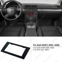 fascia de radio de voiture achat en gros de-Kit adaptateur d'adaptateur d'installation de cadre de panneau de garniture de façade de radio 2DIN pour voiture pour AUDI A4 (B7) 2005-2008 / SEAT Exeo 2009+ # 5037