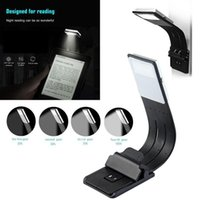 Wholesale flexible readers resale online - USB Light Portable LED Reading Book Lights With Detachable Flexible Clip Rechargeable Dimming Lamp For Kindle eBook Readers