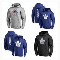 toronto hojas de arce jersey negro al por mayor-34 # arcilla matthews Nuevos jerseys de hockey Hombres Toronto Maple Leafs Marca Negro Gris Sport Hoody manga larga Chaquetas de desgaste al aire libre impresos Logos