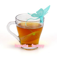 Silicone Butterfly Tea Bag Infuser Loose Tea Leaf Strainer Herbal Spice Filter Diffuser Coffee Tools Party Gift Multi Color