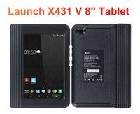 obd2 güncellemesi toptan satış-BAŞLATMA X431 V Bluetooth / Wifi OBD2 Tam Sistem Araç Teşhis Aracı 8 inç X-431 V Otomatik Tarayıcı 2 Yıl Ücretsiz Güncelleme