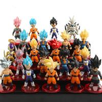 Wholesale kid gohan figure resale online - 21 Style Random Dragon Ball Z Mini Saiyan Vegeta Gohan Dragon Ball Z Figure Boys Toy PVC Model Anime Collection Kid Toy L