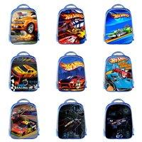 детские автокресла оптовых-F1 гоночный автомобиль Рюкзак 13 Дизайн пользовательских 3D Детские Плечи рюкзак Мальчик 13 дюймов большой емкости студент Дети Zipper Knapsac 06