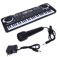 Wholesale electric plug toys for sale - Group buy 61 Keys Digital Music Electronic Keyboard Key Board Electric Piano Children Gift US Plug black color